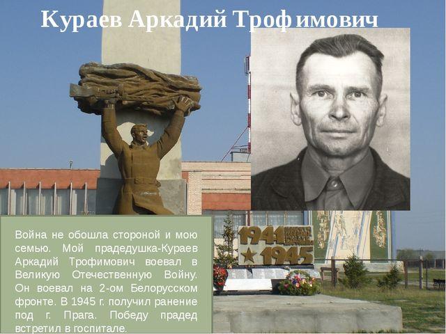 Кураев Аркадий Трофимович Война не обошла стороной и мою семью. Мой прадедушк...
