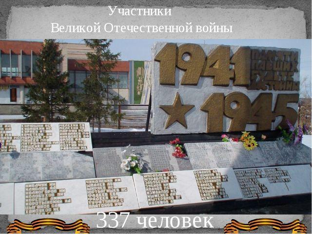 Участники Великой Отечественной войны 337 человек