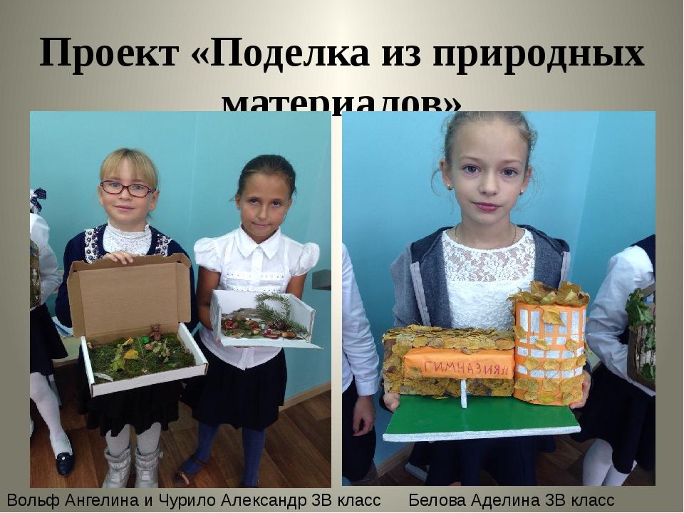 Проект «Поделка из природных материалов» Вольф Ангелина и Чурило Александр 3В...