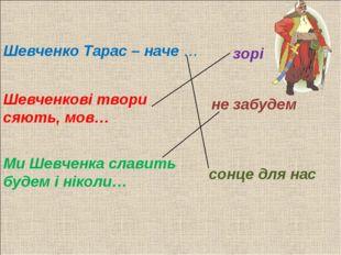 Шевченко Тарас – наче … не забудем Шевченкові твори сяють, мов… Ми Шевченка с