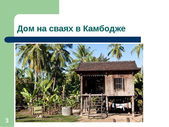 Дом на сваях в Камбодже *