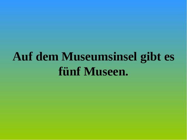Auf dem Museumsinsel gibt es fünf Museen.