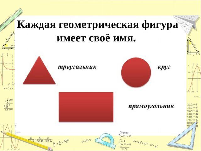 Каждая геометрическая фигура имеет своё имя.