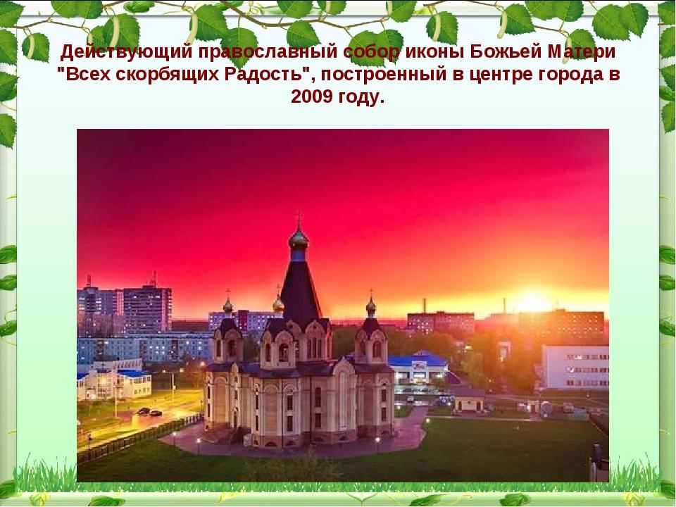 """Действующий православный собор иконы Божьей Матери """"Всех скорбящих Радость"""",..."""