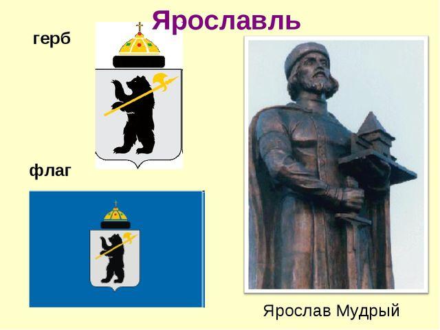 Ярославль Ярослав Мудрый герб флаг