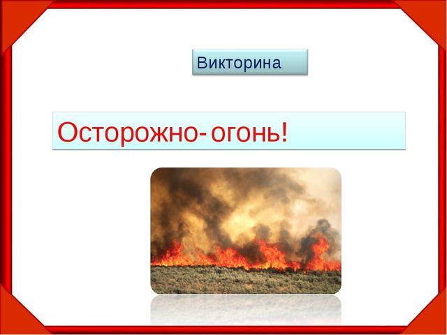 Осторожно- огонь!