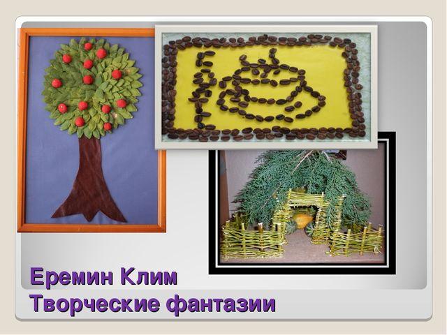 Еремин Клим Творческие фантазии