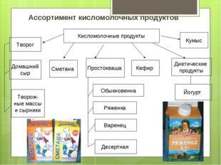 Ассортимент кисломолочных продуктов Кисломолочные продукты Творог Домашний сы