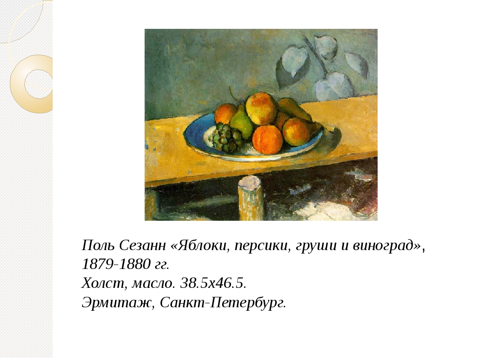 Поль Сезанн «Яблоки, персики, груши и виноград», 1879-1880 гг. Холст, масло....