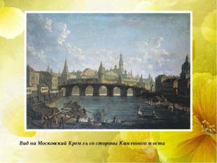 Вид на Московский Кремль со стороны Каменного моста