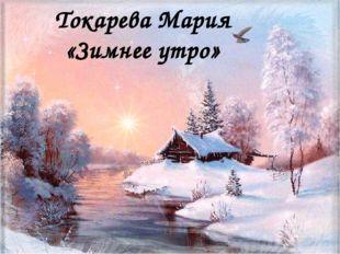 Токарева Мария «Зимнее утро»