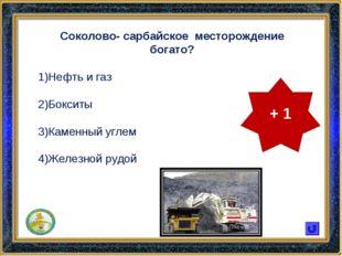 Соколово- сарбайское месторождение богато? Нефть и газ Бокситы Каменный углем