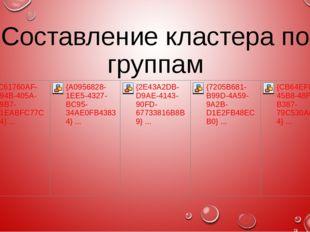 Составление кластера по группам