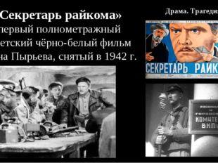 В 1941 г. Красная армияотступала с боями. В это тяжёлое время секретарьра