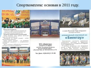Спорткомплекс основан в 2011 году.