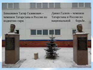 Биккиниев Тагир Газимович – чемпион Татарстана и России по поднятию гири. Дан