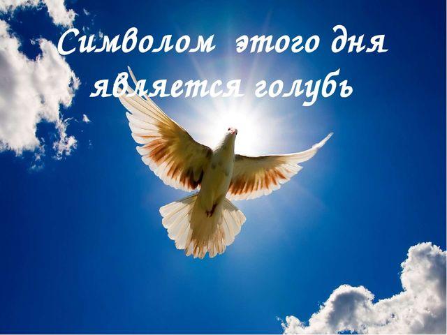 Символом этого дня является голубь