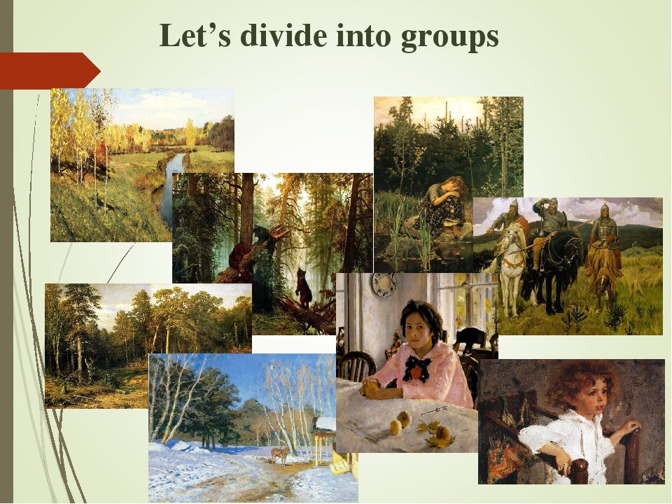 Let's divide into groups