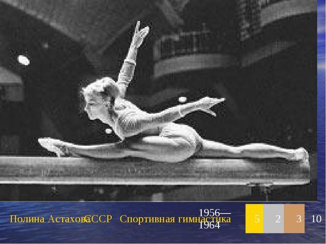 Полина АстаховаСССРСпортивная гимнастика1956—196452310