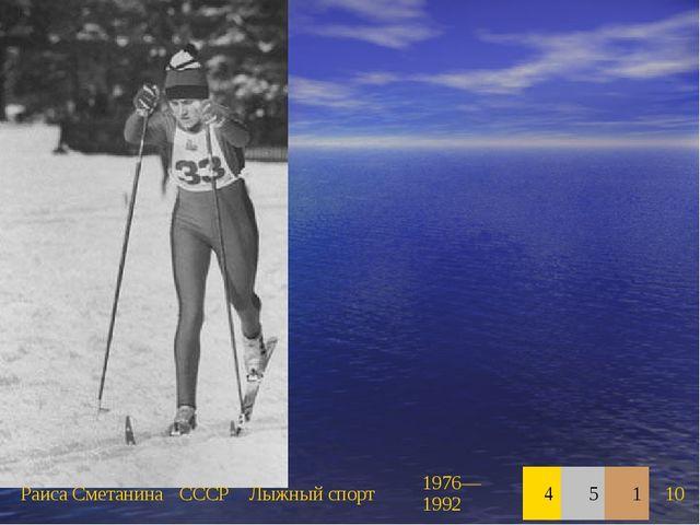 Раиса СметанинаСССРЛыжный спорт1976—199245110