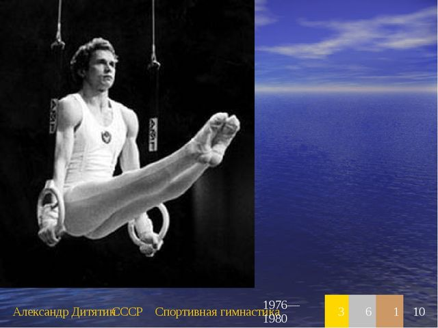 Александр ДитятинСССРСпортивная гимнастика1976—198036110