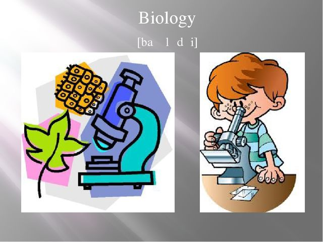Biology [baɪɒlədʒi]