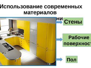 Использование современных материалов в отделке кухни Рабочие поверхности Пол