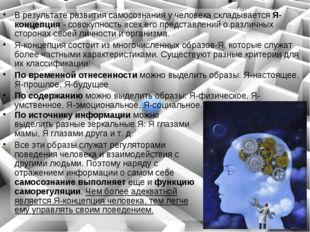 Врезультате развития самосознания у человека складывается Я-концепция - сово