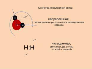 Свойства ковалентной связи направленная, атомы должны расположиться определен