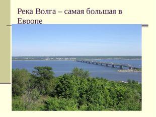 Река Волга – самая большая в Европе