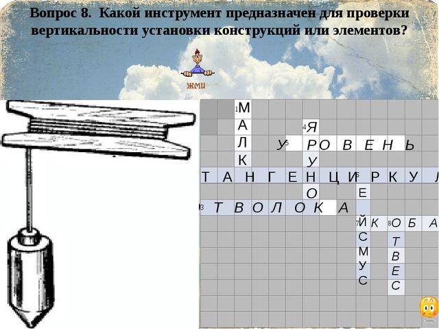 Вопрос 8. Какой инструмент предназначен для проверки вертикальности установки...