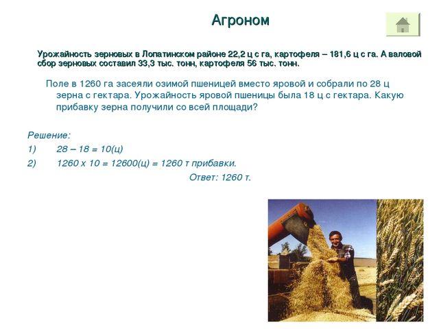 Агроном Поле в 1260 га засеяли озимой пшеницей вместо яровой и собрали по 28...