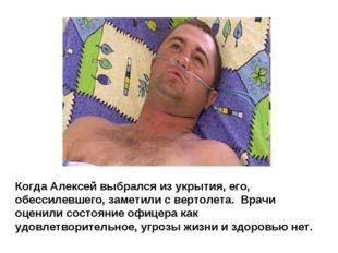 Когда Алексей выбрался из укрытия, его, обессилевшего, заметили с вертолета.
