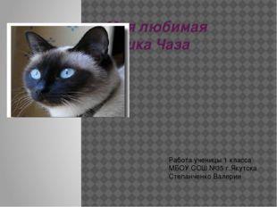Моя любимая кошка Чаза Работа ученицы 1 класса МБОУ СОШ №35 г.Якутска Степанч