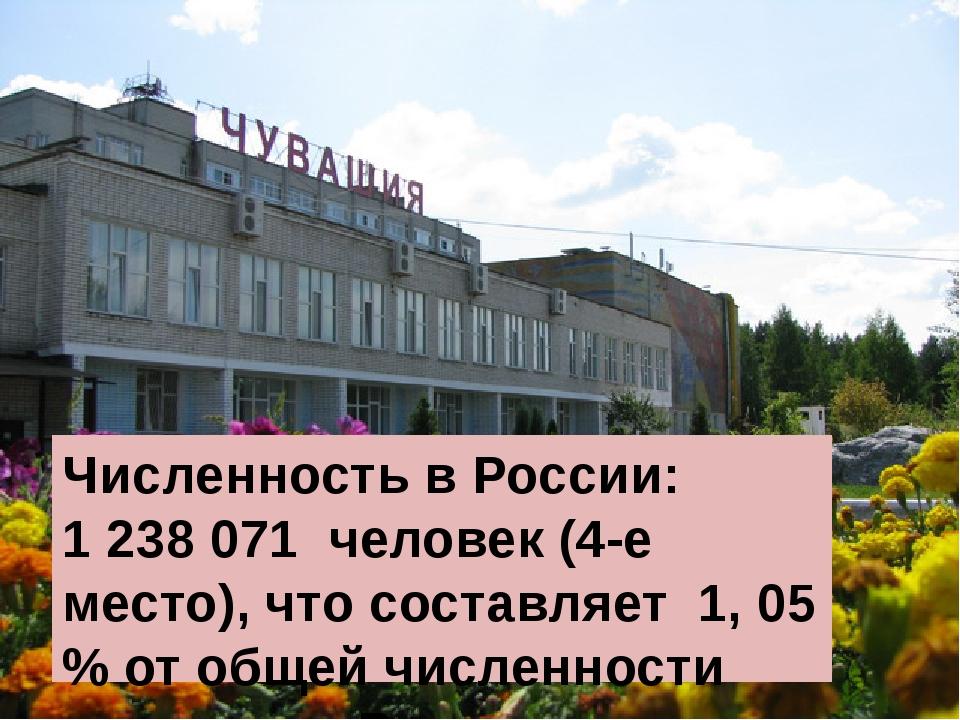 Численность в России: 1238071 человек (4-е место), что составляет 1, 05 % о...