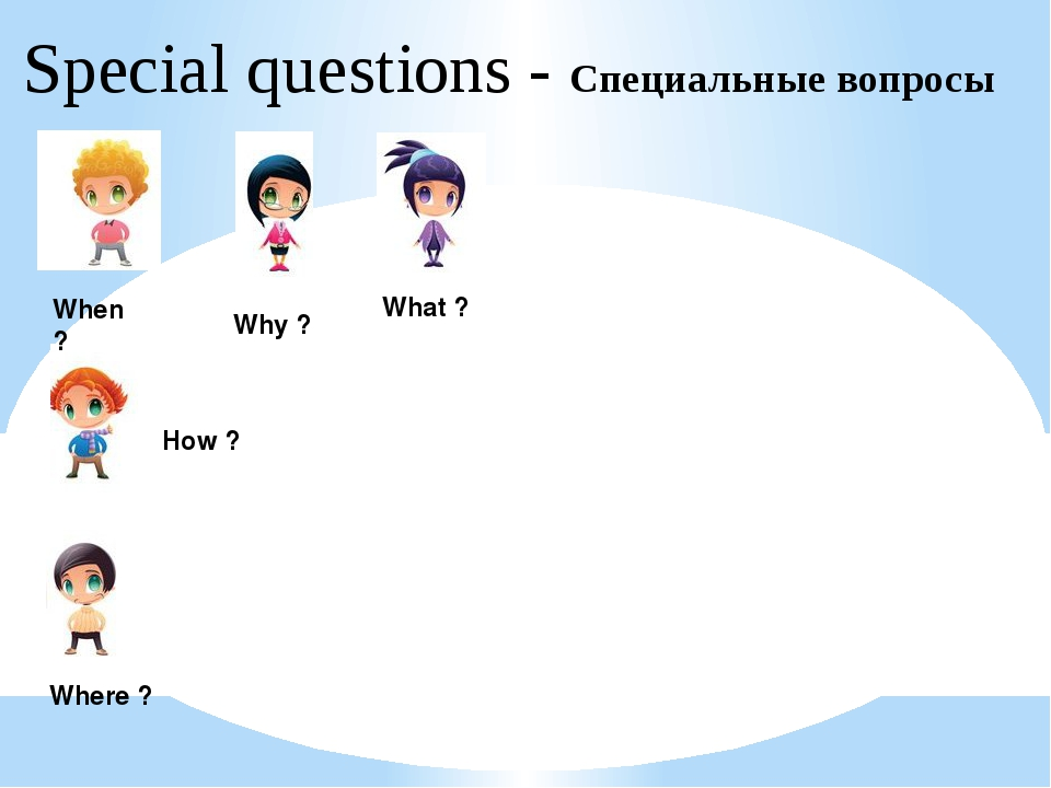 Special questions - Специальные вопросы What ? Where ? When ? Why ? How ?
