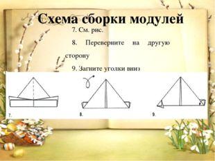 Схема сборки модулей 7. См. рис. 8. Переверните на другую сторону 9. Загните
