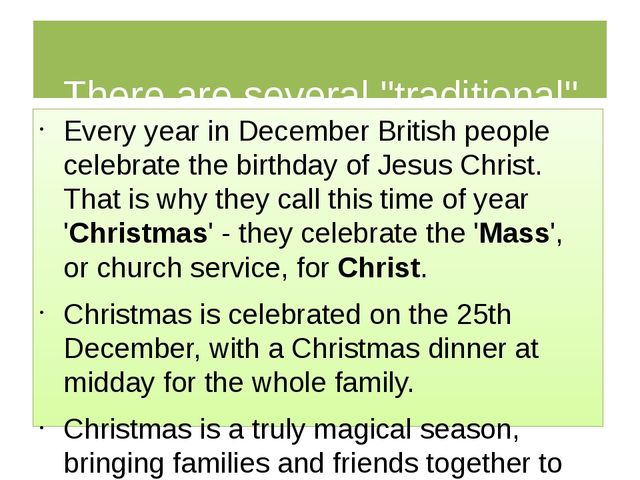 """There are several """"traditional"""" meals you can have at Christmas. Every year..."""