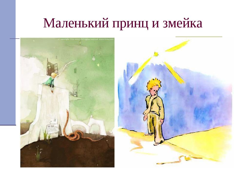 Маленький принц и змейка Загадочная змея обещала помочь принцу вернуться, ког...
