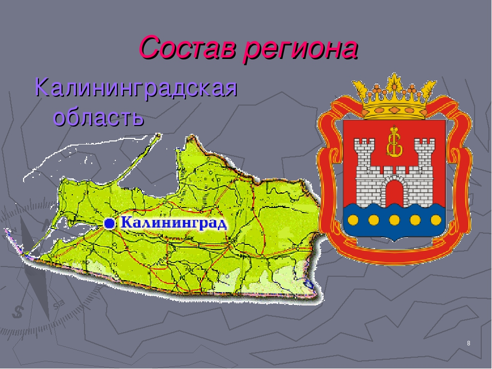 * Состав региона Калининградская область