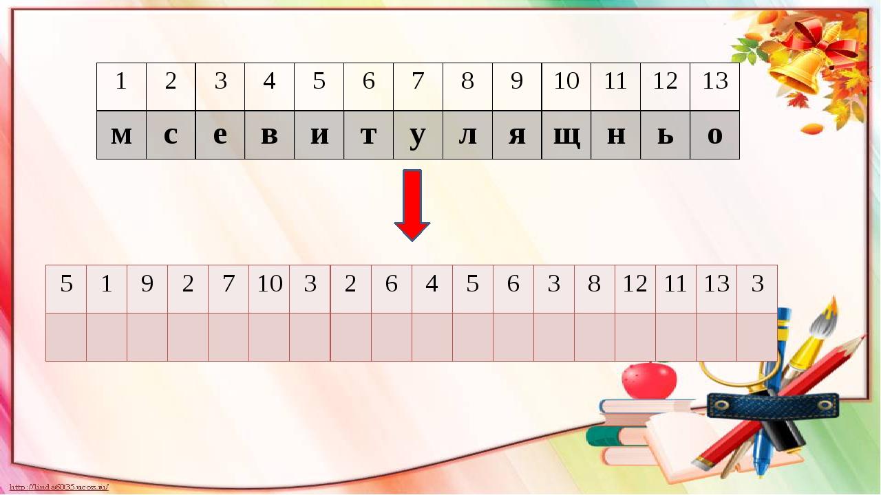 1 2 3 4 5 6 7 8 9 10 11 12 13 м с е в и т у л я щ н ь о 5 1 9 2 7 10 3 2 6 4...