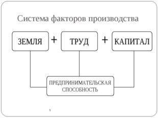 Система факторов производства 9 9