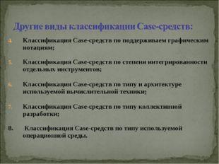 Классификация Case-средств по поддерживаем графическим нотациям; Классификаци