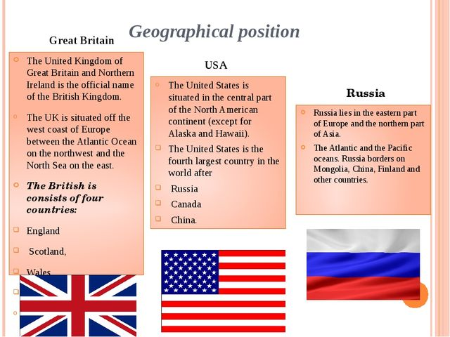 Geographical position The United Kingdom of Great Britain and Northern Irelan...