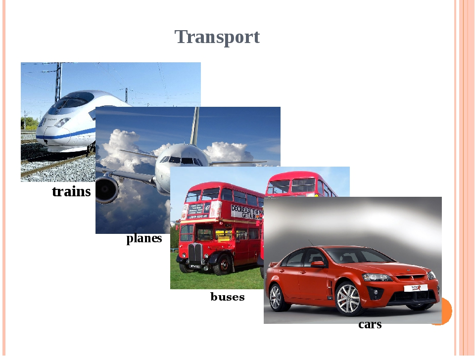 Transport trains planes buses cars