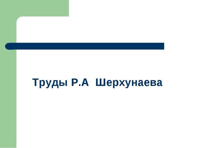 Труды Р.А Шерхунаева