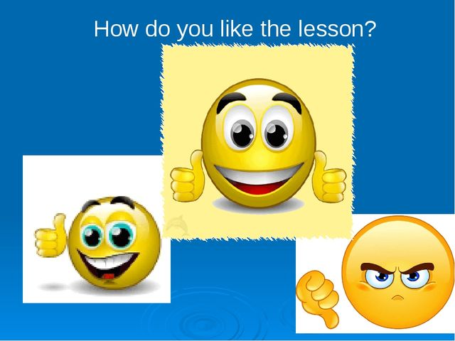 How do you like the lesson?