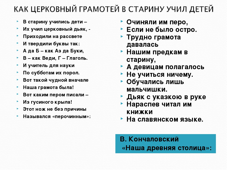 В. Кончаловский «Наша древняя столица»: В старину учились дети – Их учил церк...