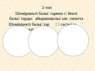 2-топ Шеміршекті балықтармен сүйекті балықтардың айырмашылығын сипатта Шемір