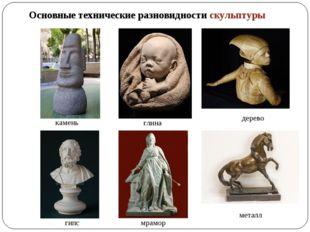 Основные технические разновидности скульптуры камень глина дерево гипс мрамор